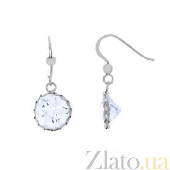 Серебряные серьги с подвесками из циркона AQA--220550070/10