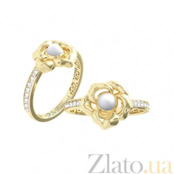 Золотое кольцо с кахолонгом и бриллиантами Amoroso 000029684