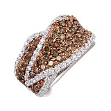 Кольцо Патриция из белого золота с бриллиантами