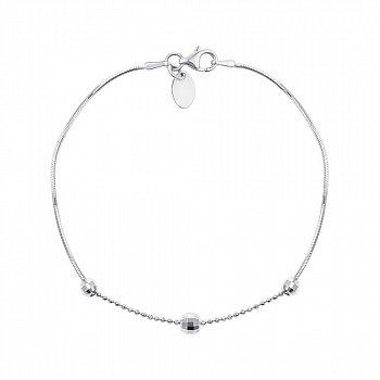 Серебряный браслет с подвесками-шариками 000125183