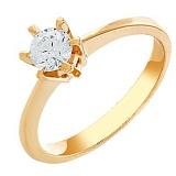 Золотое кольцо Положительный ответ с кристаллом Swarovski