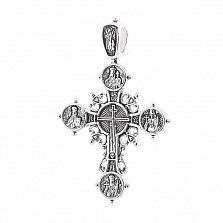 Серебряный крест с чернением Хранители