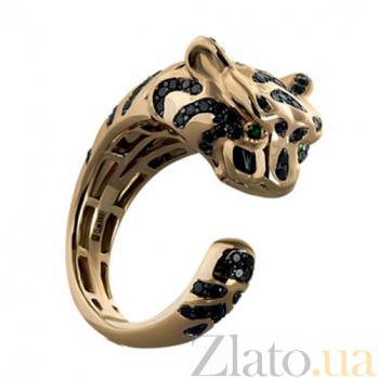 Золотое кольцо с бриллиантами и изумрудами Tiger KBL--К1785/крас/брил
