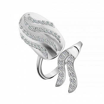 Серебряное кольцо с фианитами 000028118