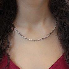 Серебряная цепочка Дита в якорном плетении с перемычками, 3мм