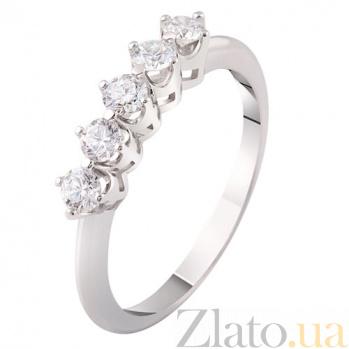Кольцо из белого золота с бриллиантами Сильвия KBL--К1871/бел/брил