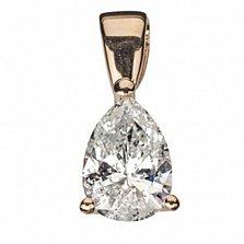 Подвеска из красного золота с бриллиантами Капля женственности