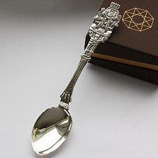 Серебряная чайная ложка Король