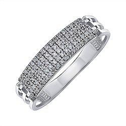 Кольцо из белого золота с бриллиантами 000145563