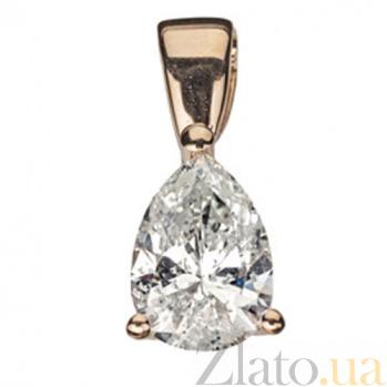 Подвеска из красного золота с бриллиантами Капля женственности P0494