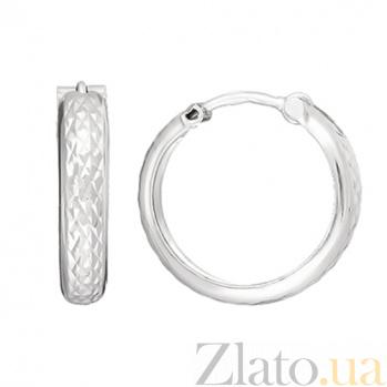 Серебряные серьги-конго Альцест, 3,5см 000042672