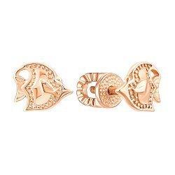 Серьги-пуссеты из красного золота 000106356