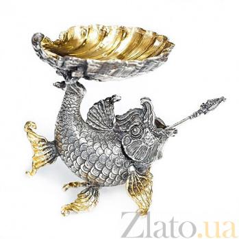 Серебряная икорница Мелюзина 382