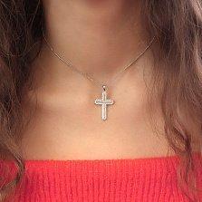 Серебряный крест Юлианна с фианитами