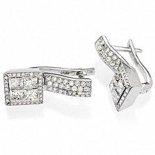 Серьги из белого золота с бриллиантами Элиза