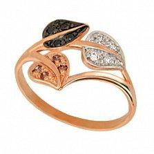 Золотое кольцо Осень с разноцветными фианитами
