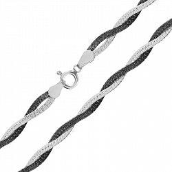 Серебряная цепь с чернением 000026311