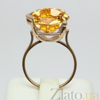 Золотое кольцо с цитрином Аврея VLN--112-1345-8