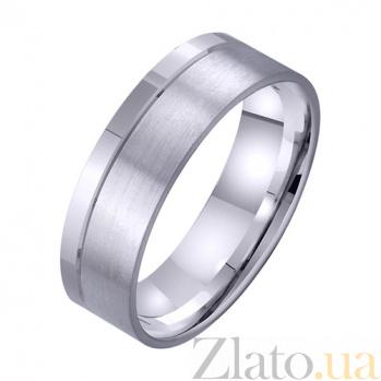Обручальное кольцо из белого золота Аромат счастья TRF--4211716