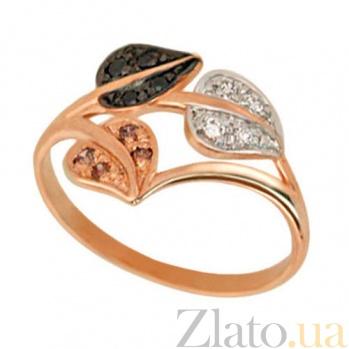Золотое кольцо Осень с разноцветными фианитами VLT--Е1110-1