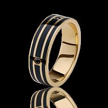 Обручальное кольцо Fellini — Итальянская ночь с эмалью и бриллиантами