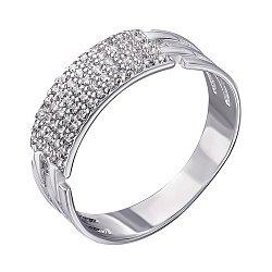 Серебряное кольцо с фианитами  000048789