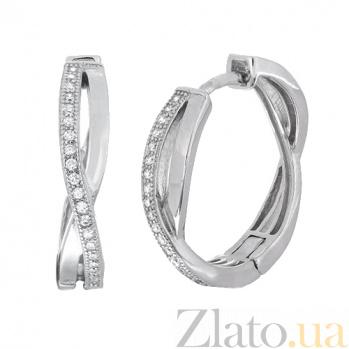 Серебряные серьги с цирконием Джелисса SLX--СК2Ф/231
