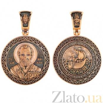 Ладанка из красного золота Святой Николай VLT--ЛС3021-3