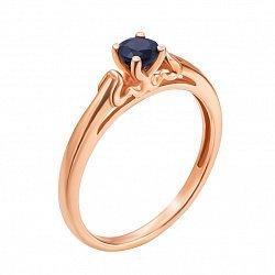 Кольцо в красном золоте Лана с сапфром