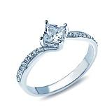 Серебряное кольцо с фианитами Марсель