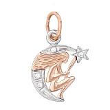 Золотой подвес знак зодиака Дева
