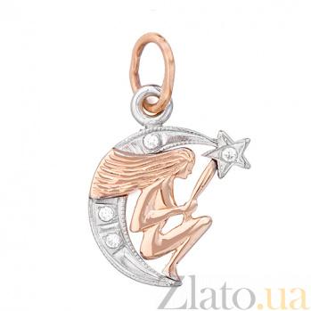 Золотой подвес знак зодиака Дева 3541653 дева