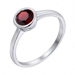 Серебряное кольцо с гранатом 000135252