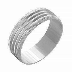 Серебряное обручальное кольцо 000039519