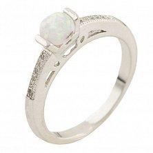 Серебряное кольцо Арина с опалом и фианитами