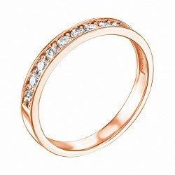 Кольцо из красного золота с бриллиантами 000117673