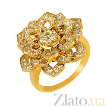 Кольцо из желтого золота Георгина с фианитами VLT--ТТ151-1