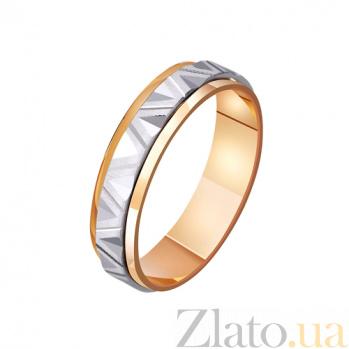 Обручальное кольцо из комбинированного золота Ар-деко TRF--421133