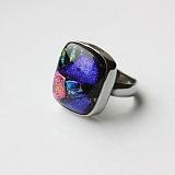 Серебряное кольцо с имитацией опала Творчество