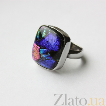 Серебряное кольцо с имитацией опала Творчество 000007031