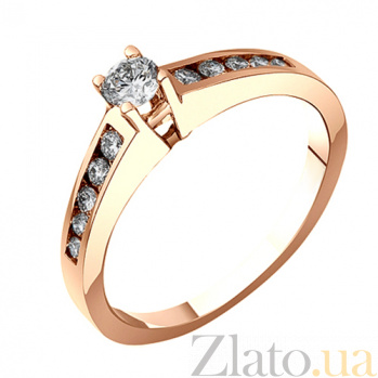 Золотое кольцо с бриллиантами Миладия EDM--КД7470