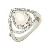 Серебряное кольцо с фианитами Жизель