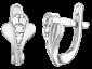 Серебряные серьги с цирконием Силестайн   SLX--С2Ф/059