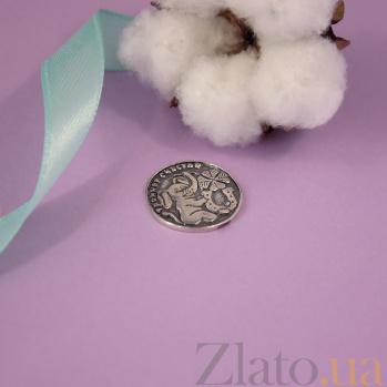 Серебряная монета Тройное счастье со слоником, четырехлистным клевером и подковой 000080311