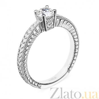 Кольцо в белом золоте Dione с бриллиантом 000079328