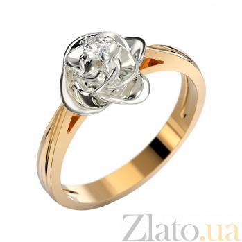 Золотое кольцо Вербена в комбинированном цвете с бриллиантом VLA--15040