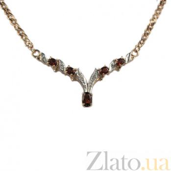 Золотое колье с гранатами и бриллиантами Нияр ZMX--NGn-60921_K