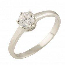 Серебряное кольцо Лада с цирконием