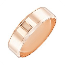 Обручальное кольцо из красного золота 5 мм 000138817