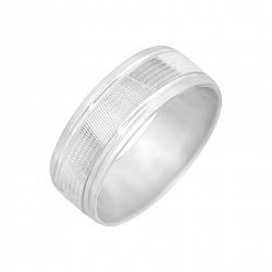 Серебряное обручальное кольцо Вместе на всю жизнь